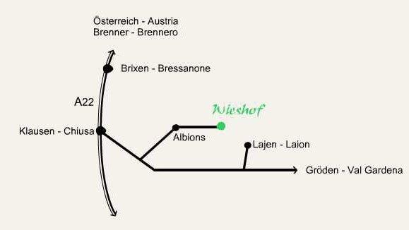 Wieshof - Come arrivare